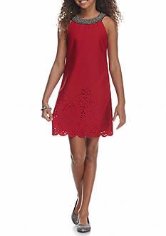 Speechless Laser Cut Scuba Dress Girls 7-16