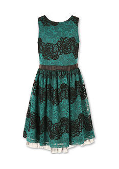 Speechless Navy Lace Sleeveless Party Dress Girls 7-16