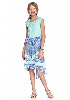 Speechless Lace Top High Low Dress Girls 7-16