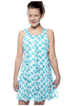 Speechless Dot U-Neck Bubble Dress Girls Plus