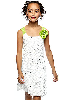 Flower Eyelash Bubble Dress Girls 7-16