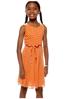 Speechless Dot Chiffon Dress Girls 7-16