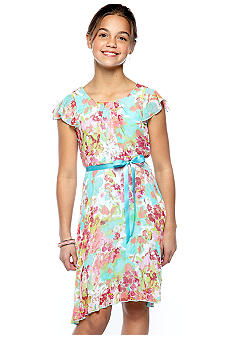 Speechless Pleated Floral Dress Girls 7-16