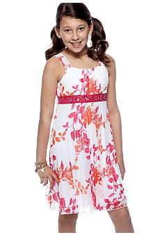 Speechless Floral Pleated Dress Girls 7-16