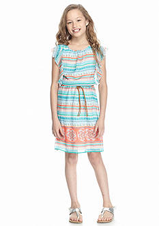 Speechless Flutter Sleeve Chiffon Dress Girls 7-16