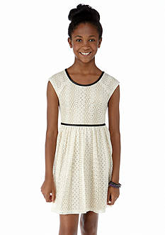 Speechless Lace Bow Back Dress Girls 7-16