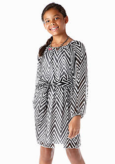 Speechless Chevron Dress Girls 7-16