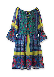Speechless Chiffon Printed Peasant Dress Girls 7-16