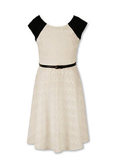 Speechless Cap Sleeve Lace Dress Girls 7-16