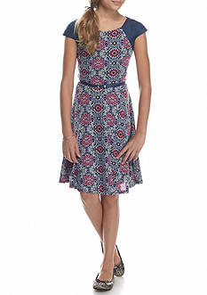 Speechless Belted Wooby Dress Girls 7-16
