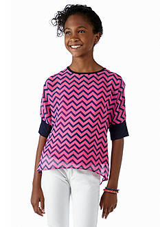Speechless Chevron Dolman Sleeve Top Girls 7-16