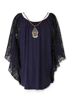 Speechless Lace Peasant Top Girls 7-16