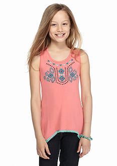 Speechless Embroidered Hem Tank Girls 7-16