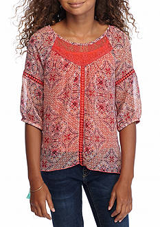 Speechless 2-Piece Tank and Printed Peasant Top Set Girls 7-16