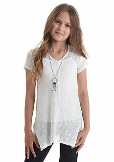 Speechless 2Fer Crochet Lace Top Girls 7-16