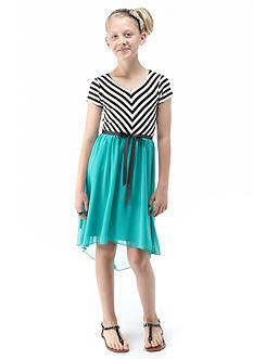 Speechless Stripe to Chiffon High Low Dress Girls 7-16