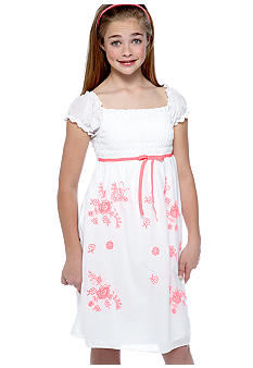 Speechless White Smock Neon Dress Girls 7-16
