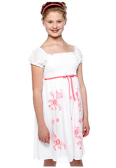 Speechless White Smock Neon Dress Girls Plus