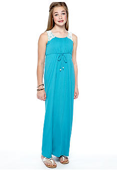Speechless Crochet Trim Maxi Dress Girls 7-16