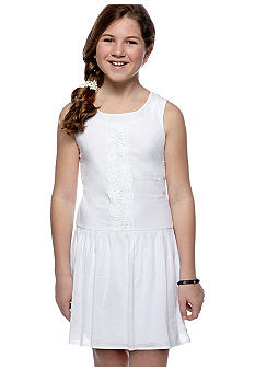 Speechless White Drop-waist Dress Girls 7-16