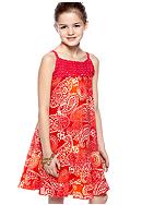 Speechless Paisley Crochet Dress Girls 7-16