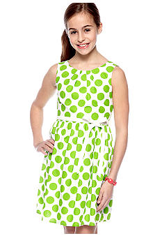 Speechless Dot U-Neck Dress Girls 7-16