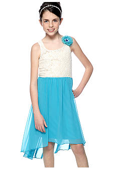 Speechless Lace Hi Low Dress Girls 7-16