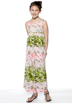 Speechless Camouflage Print Maxi Dress Girls 7-16