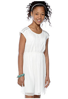 Speechless Stud Embellished Dress Girls 7-16