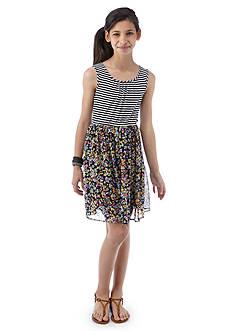 Speechless Stripe to Floral Dress Girls 7-16