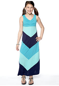 Speechless Color-Blocked Maxi Dress Girls 7-16