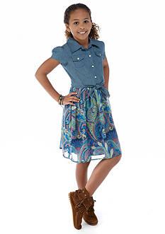 Speechless Denim to Paisley Dress Girls 7-16