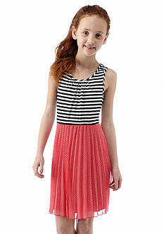 Speechless Stripe to Dot Dress Girls 7-16