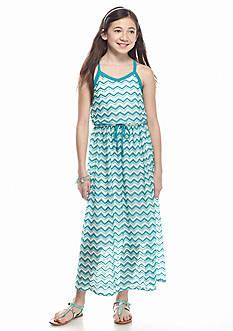 Speechless Chevron Crochet Maxi Dress Girls 7-16