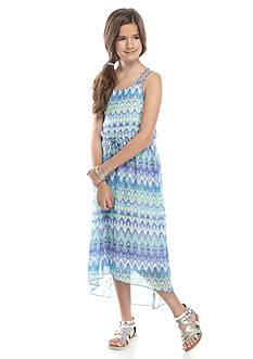 Speechless Tribal Chevron High Low Maxi Dress Girls 7-16