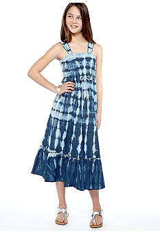 Speechless Chambray Tie Dye Dress Girls 7-16