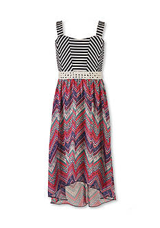 Speechless Stripe to Chevron Dress Girls 7-16