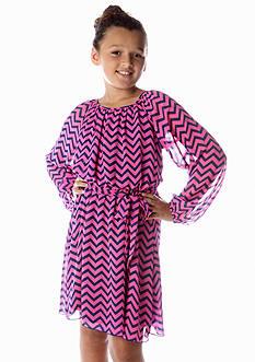 Speechless Chevron Blouson Dress Girls 7-16