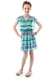 Speechless Printed Chiffon Blouson Dress