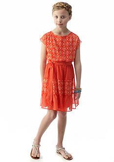 Speechless Tribal Dot Chiffon Dress Girls 7-16