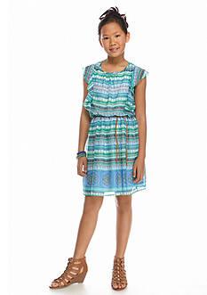 Speechless Tribal Print Belted Dress Girls 7-16