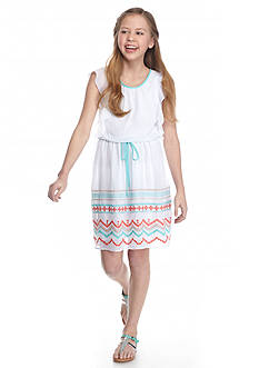 Speechless Embroidered Angel Sleeve Dress Girls 7-16
