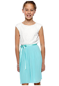 Speechless Pleated Lace Dress Girls 7-16
