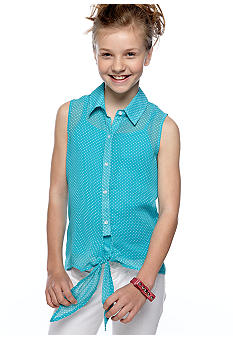 Speechless Pin Dottie Tie Front Girls 7-16