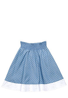 Speechless Chambray Dot Skirt Girls 7-16