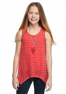 Speechless 2-Piece Shark-bite Tank Top with Cami Girls 7-16