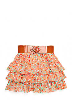 Speechless Floral Tiered Skirt Girls 7-16