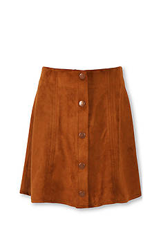 Speechless Button Front Suede Skirt Girls 7-16