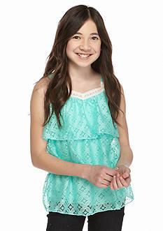 SEQUIN HEARTS girls 3-Tier Crochet Tank Girls 7-16