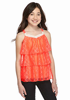 SEQUIN HEARTS girls 3-Tier Crochet Tank Girls 7-16
